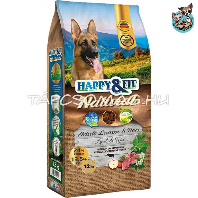 Happy&Fit Natural Adult Lamm&Reis száraz kutyaeledel